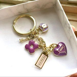 Coach Key to my Heart Keychain Charms
